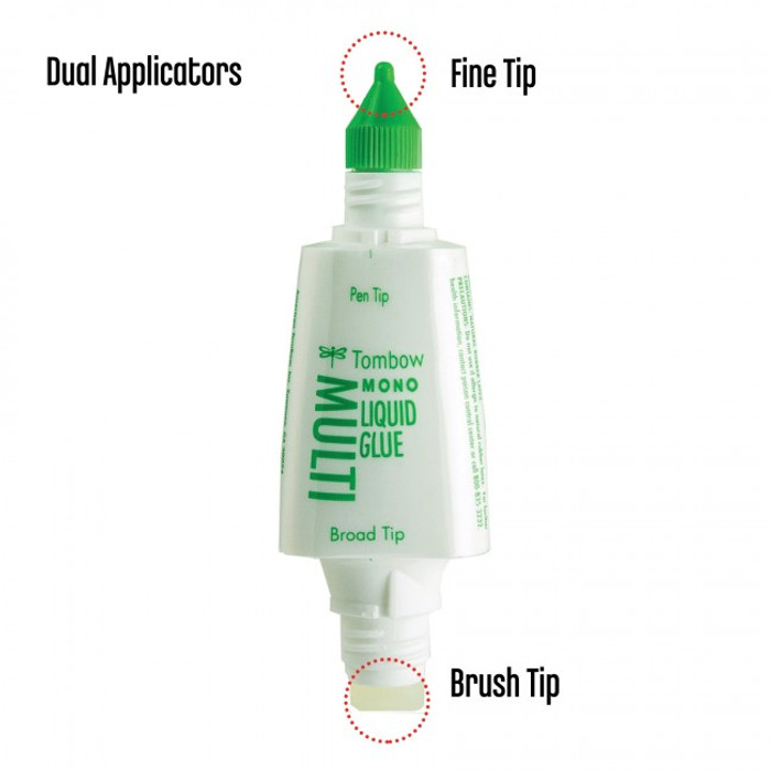 Tombow Mono Multi Liquid Glue 26ml (.88 oz) Acid free Dries Clear