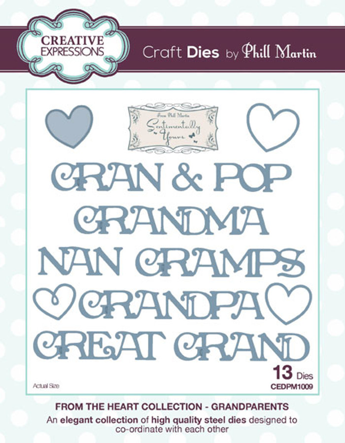 Phill Martin - From the Heart Collection - Grandparents Dies CEDPM1009 - Pre-Order 15% Off