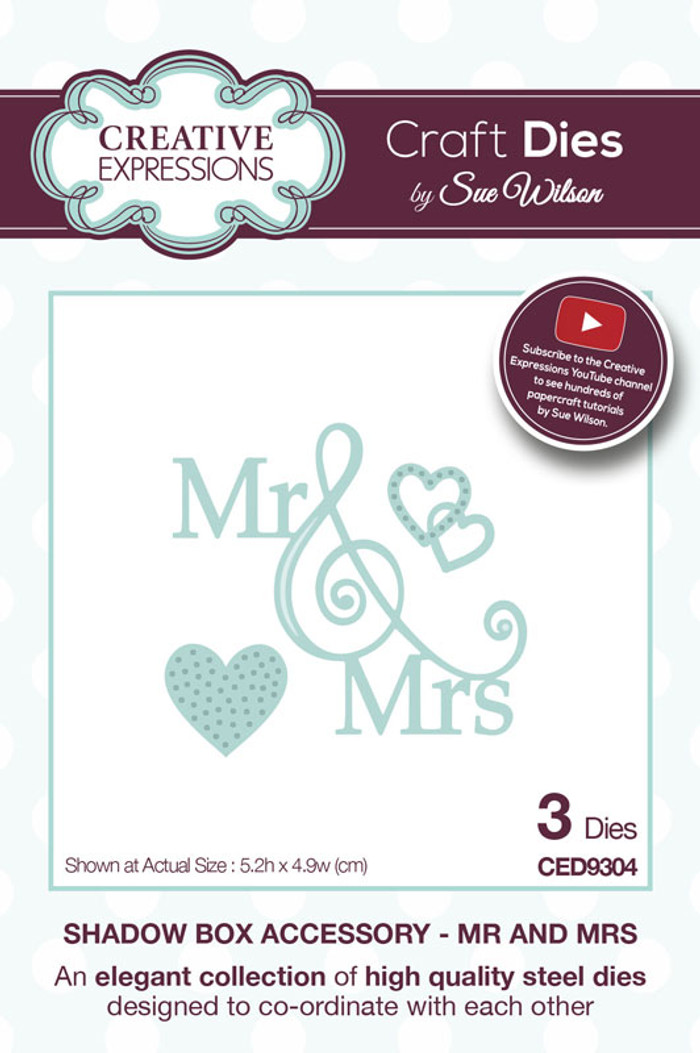 Sue Wilson - Shadow Boxes Collection - Mr and Mrs Dies CED9304 - Pre-Order 10% Off