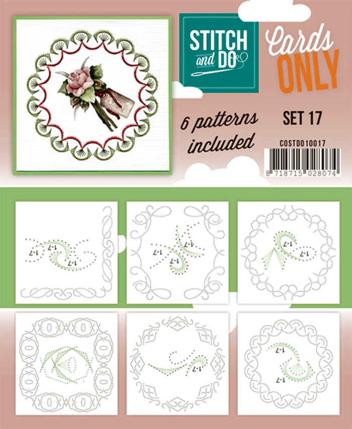 Stitch and Do Card Stitching Cardlayers Only - Set 17