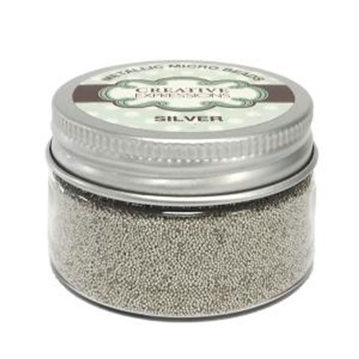 Creative Expressions Metallic Micro Beads - SILVER 50G