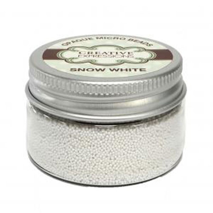Creative Expressions Opaque Micro Beads - SNOW WHITE 50G