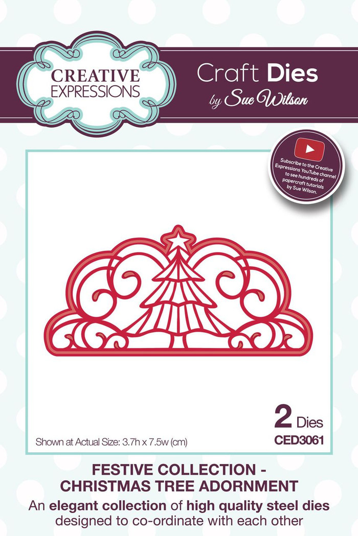 Sue Wilson - The Festive Collection - Christmas Tree Adornment CED3061 - Pre-Order 15% Off