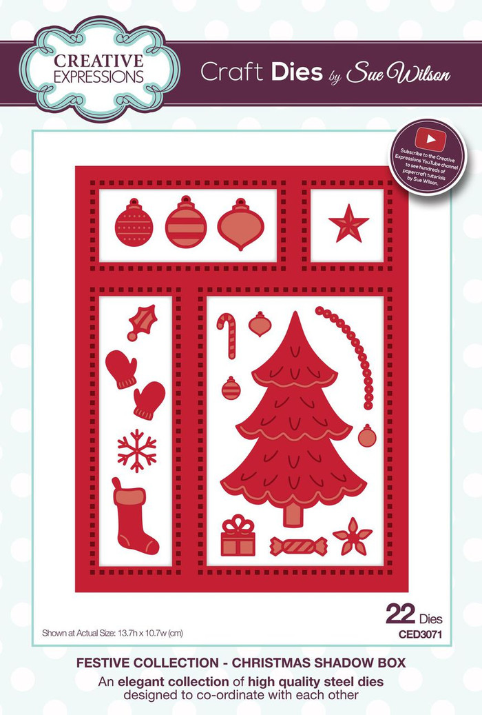 Sue Wilson - The Festive Collection - Christmas Shadow Box CED3071 - Pre-Order 15% Off
