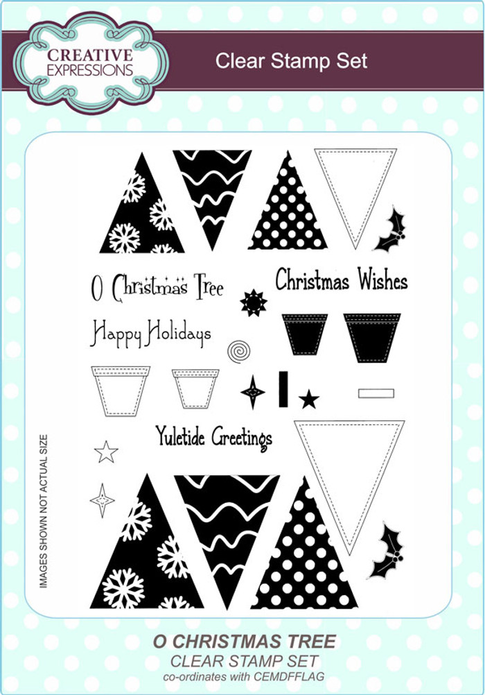 Creative Expressions O Christmas Tree A5 Clear Stamp Set by Lisa Horton CEC792 - Pre-Order 15% Off