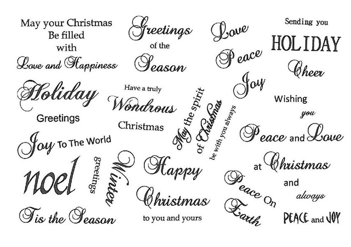 Creative Expressions A5 Unmounted Stamp Plate - Joy to the World Sentiments - 14 Stamps Pre-Order 15% Off