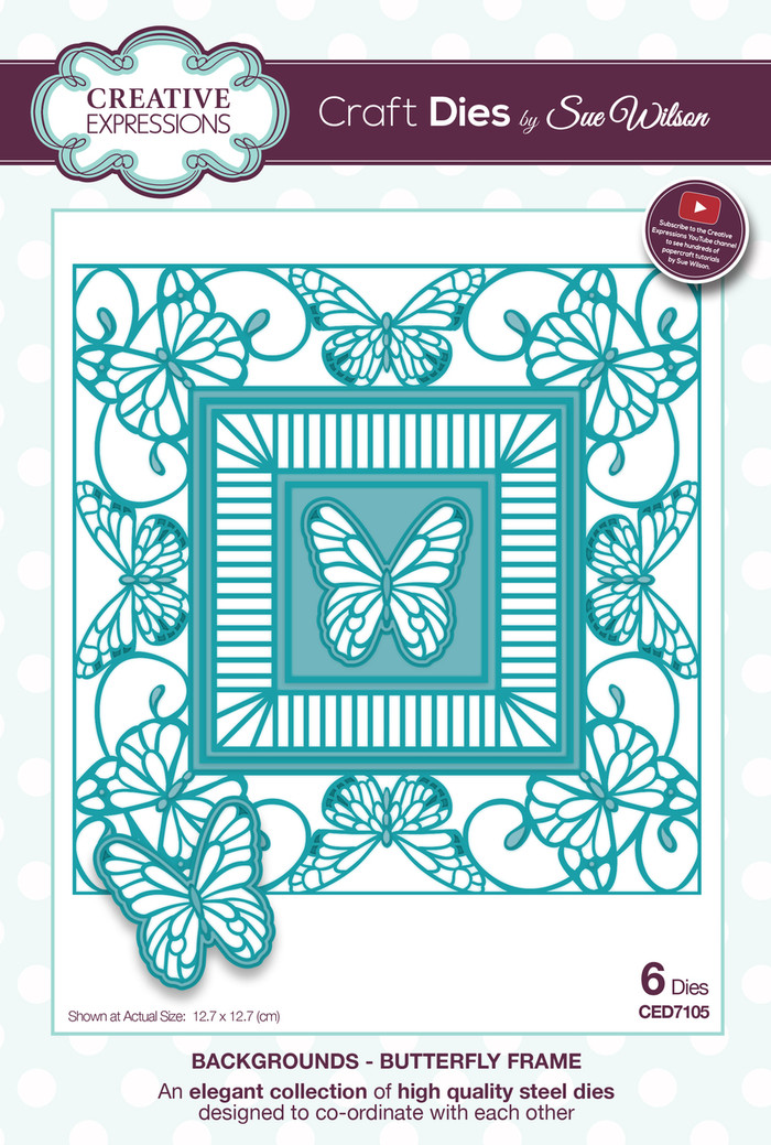 Sue Wilson - The Backgrounds Collection -  Butterfly Frame CED7105 - Pre-Order 15% Off