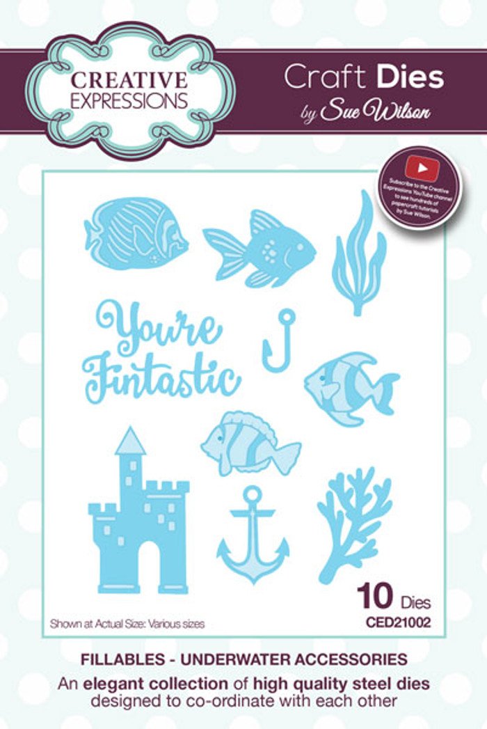 Sue Wilson Fillables Collection Dies -  Underwater Accessories CED21002 - Pre-Order 15% Off