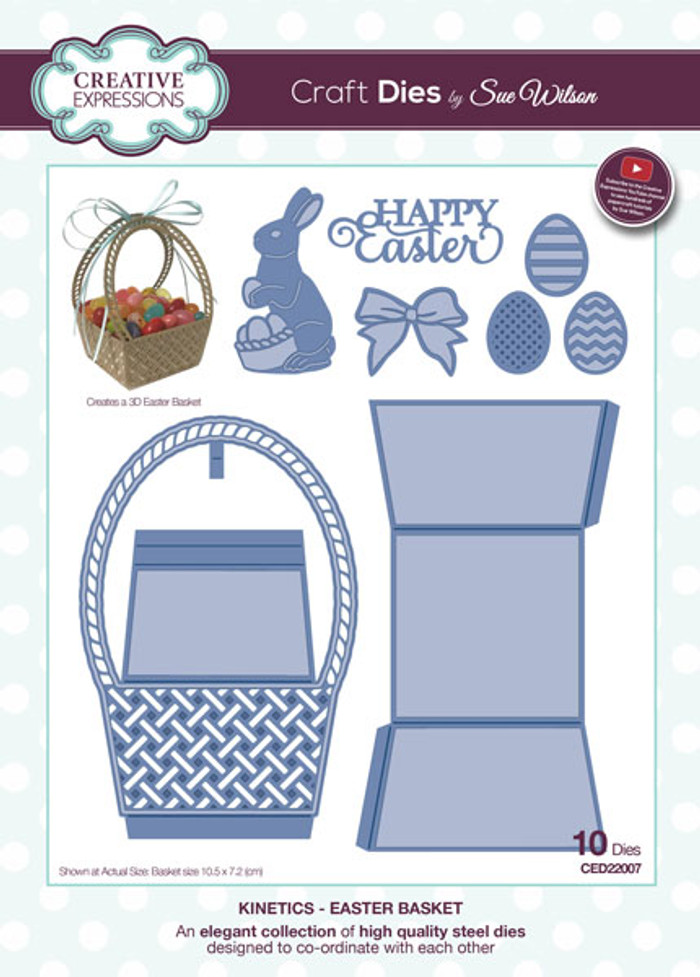 Sue Wilson Kinetics Collection Dies -  Easter Basket CED22007 -15% Off Pre-Order