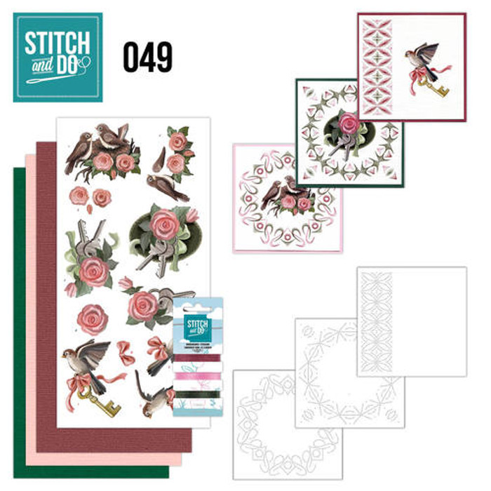 Stitch and Do 49 - Card Embroidery Kit - Moving