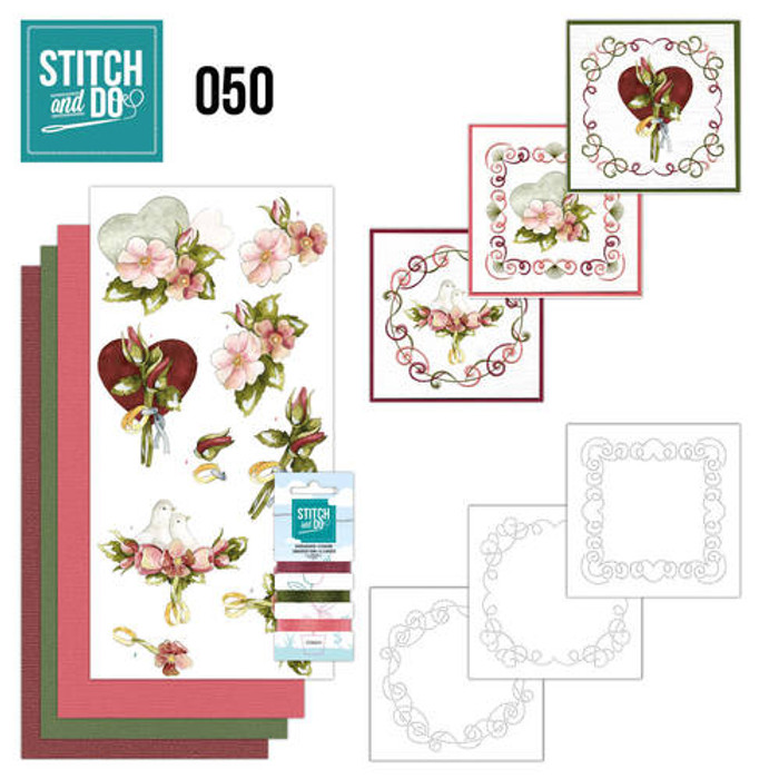 Stitch and Do 50 - Card Embroidery Kit - Marriage