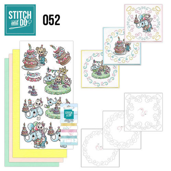 Stitch and Do 52 - Card Embroidery Kit - Toddlers