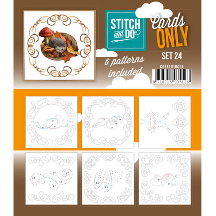 Stitch and Do Card Stitching Cardlayers Only - Set 24