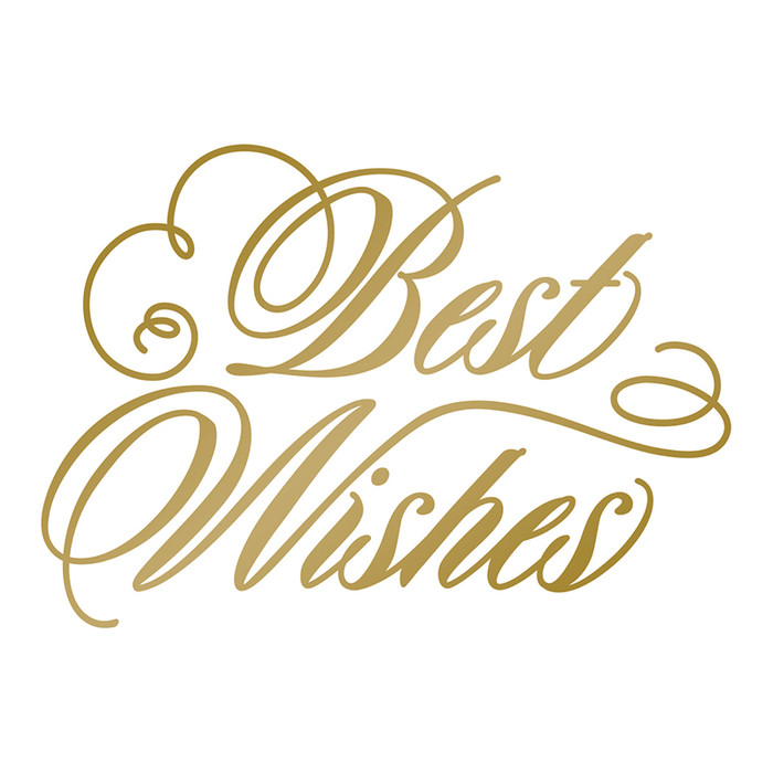Couture Creations/Anna Griffin Hot Foil Stamp - Best Wishes CO725292
