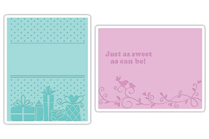 Sizzix Textured Impressions Embossing Folder 2 Pack - BABY SET #3