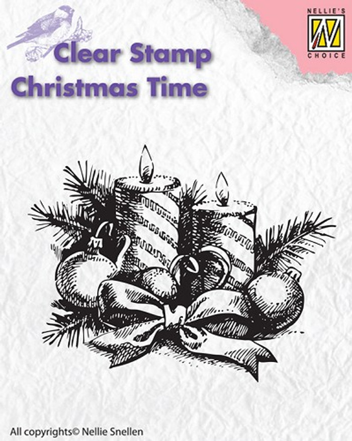 Nellie Snellen Christmas Time Stamp - Candles  CT010