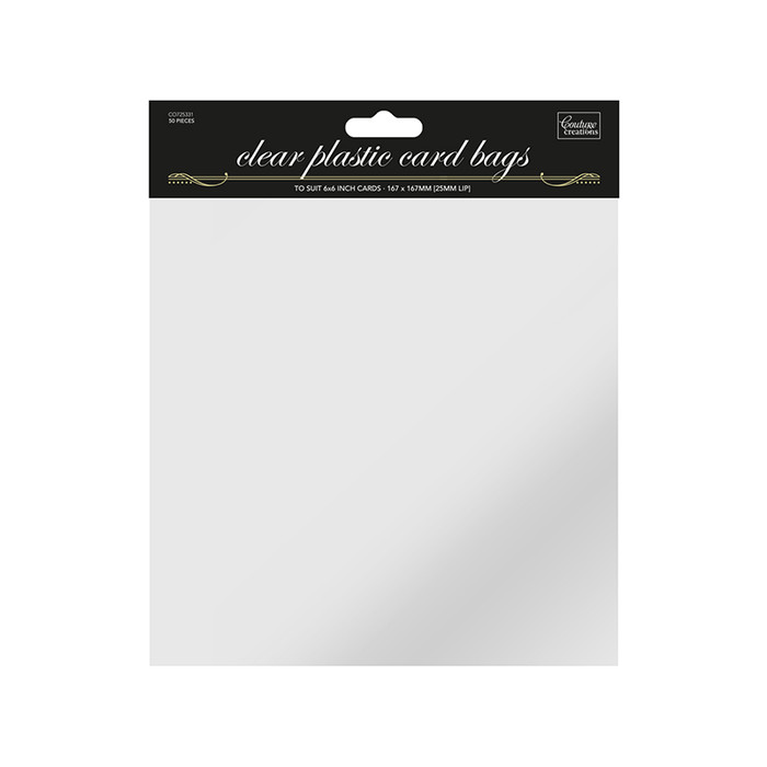 Couture Creations Square Resealable Bags 167 x 167mm