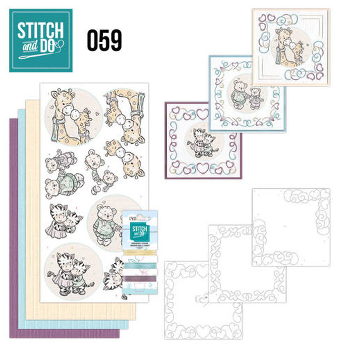 Stitch and Do Card Embroidery Kit 59 - I love You