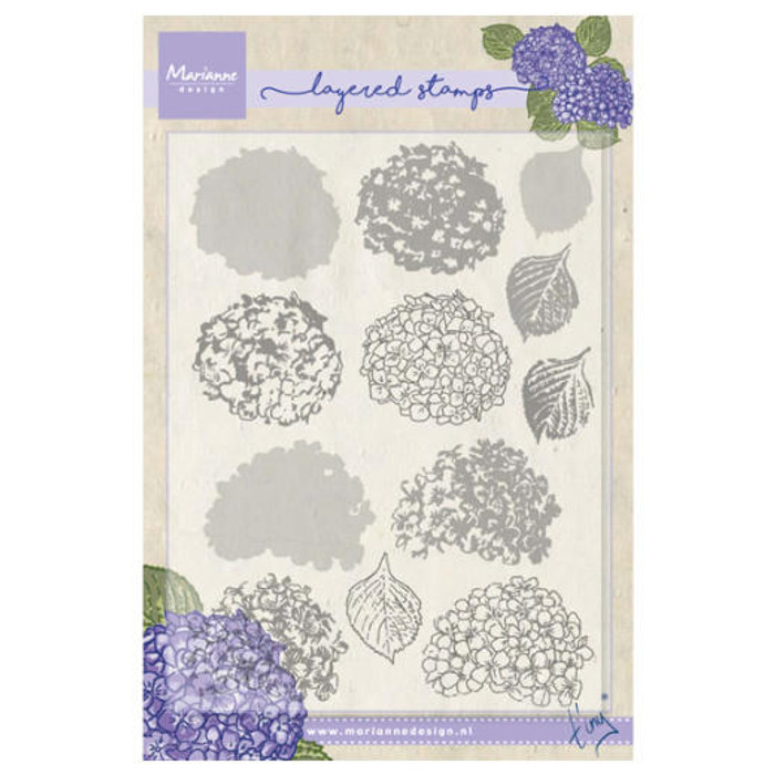 Marianne Design Layering Clear Stamps - Tiny's Hydrangea TC0854