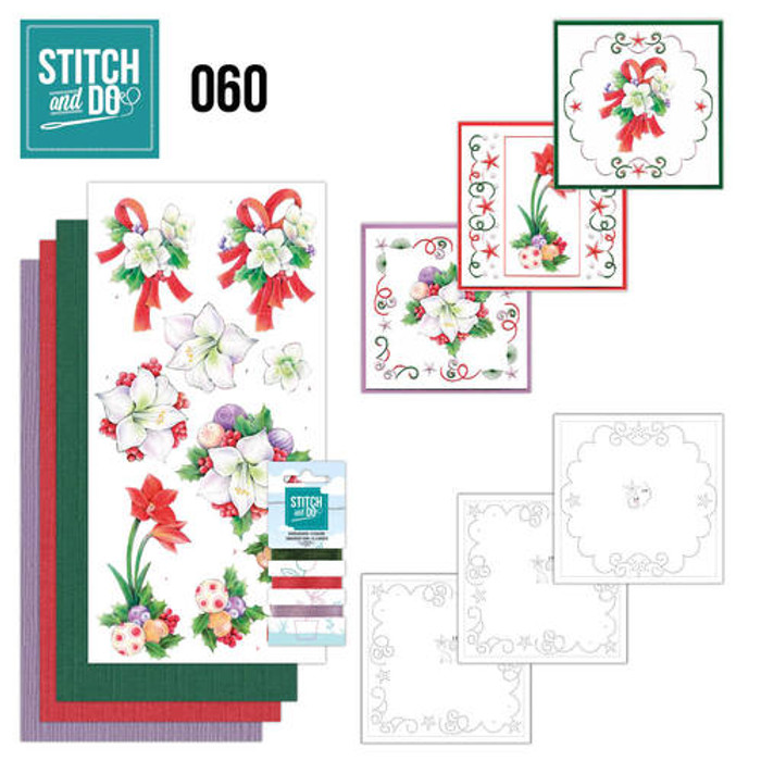 Stitch and Do 60 - Card Embroidery Kit - Christmas Classics