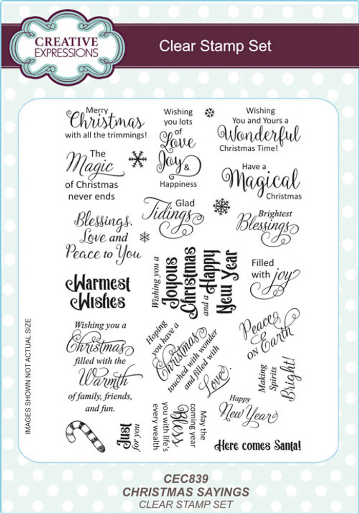 Creative Expressions Clear Stamp Set - Christmas Sayings CEC839