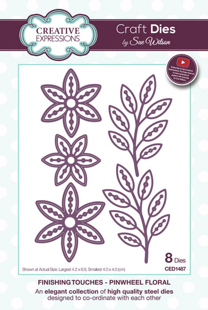 Sue Wilson Finishing Collection Dies - Pinwheel Floral  CED1487
