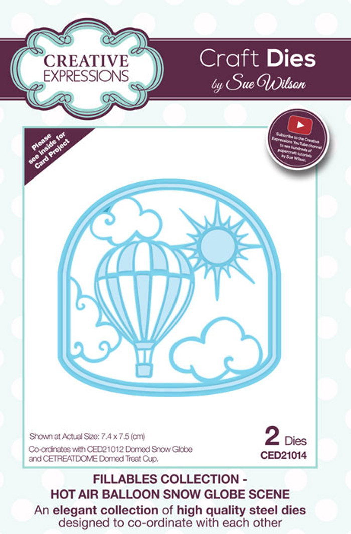Sue Wilson Fillables Collection Dies - Hot Air Balloon Scene  CED21013