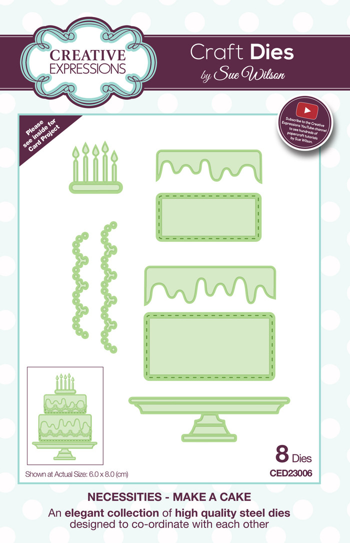 Sue Wilson Necessities Collection Dies - Make a Cake CED23006