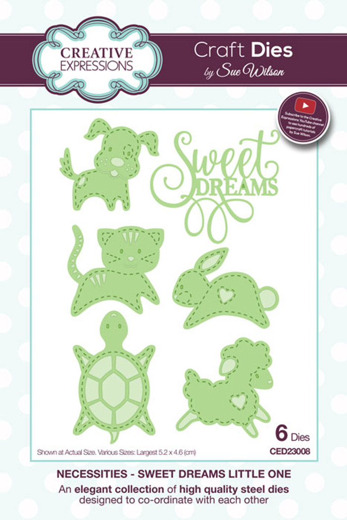 Sue Wilson Necessities Collection Dies - Sweet Dreams Little One CED23008