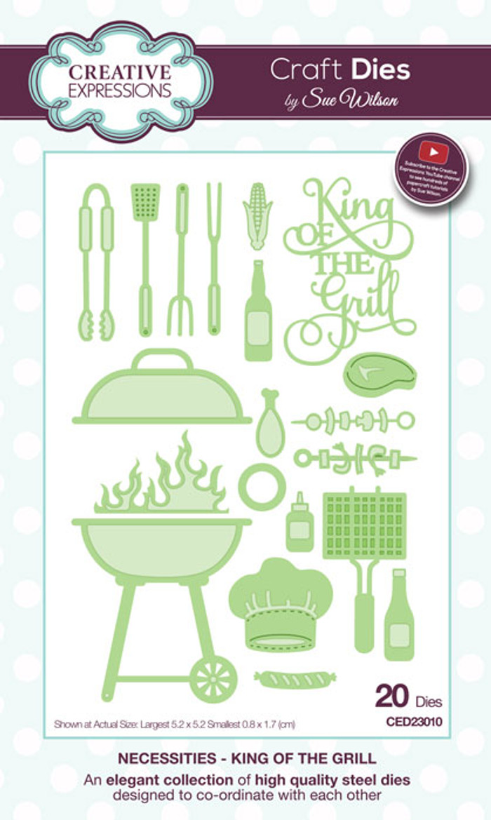 Sue Wilson Necessities Collection Dies - King of the Grill CED23010
