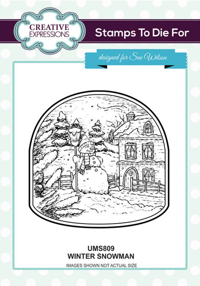 Sue Wilson Stamps To Die For - Winter Snowman UMS809