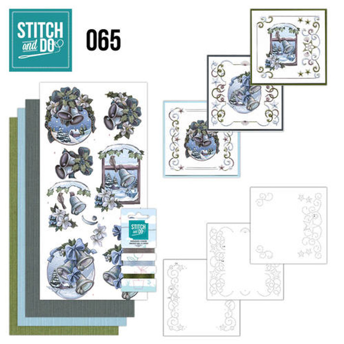 Stitch and Do 65 - Card Embroidery Kit - The Feeling of Christmas