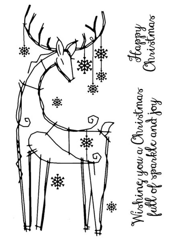 Woodware Clear Stamps - Snowflake Reindeer FRS655