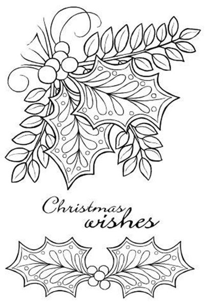 Woodware Clear Stamp Set - Doodle Holly JGS538