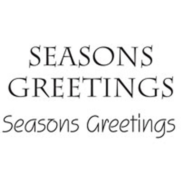 Woodware Clear Stamps - Seasons Greetings JWS027