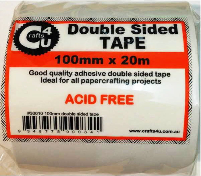 Crafts4U Double-Sided Tape Roll - 25m x 100mm