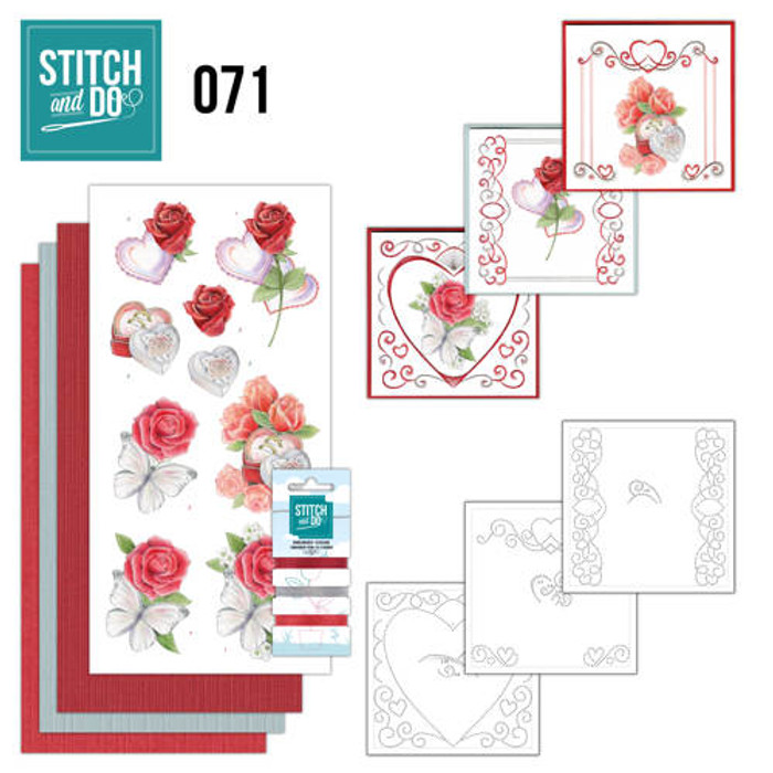 Stitch and Do 71 - Card Embroidery Kit - Wedding