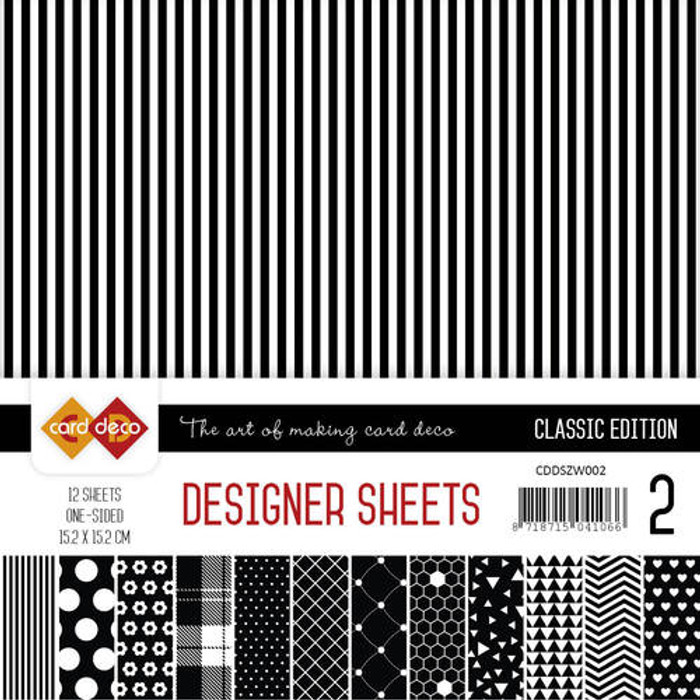 Card Deco Designer Sheets - Classic Edition - Black
