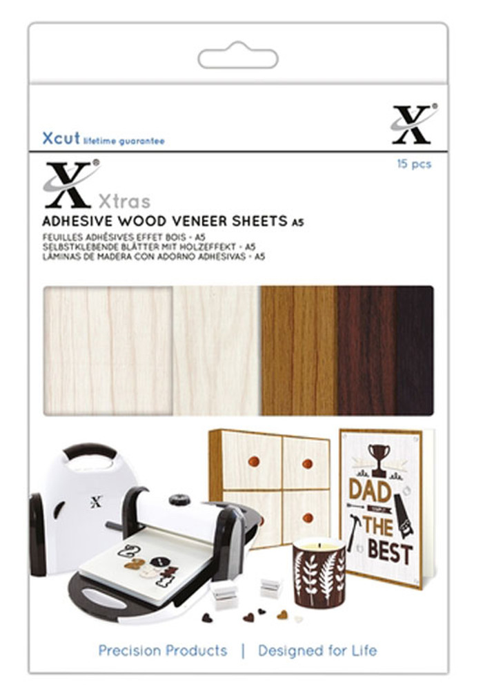 XCut Xtra A5 Wood Effect Sheets - 15 Sheets