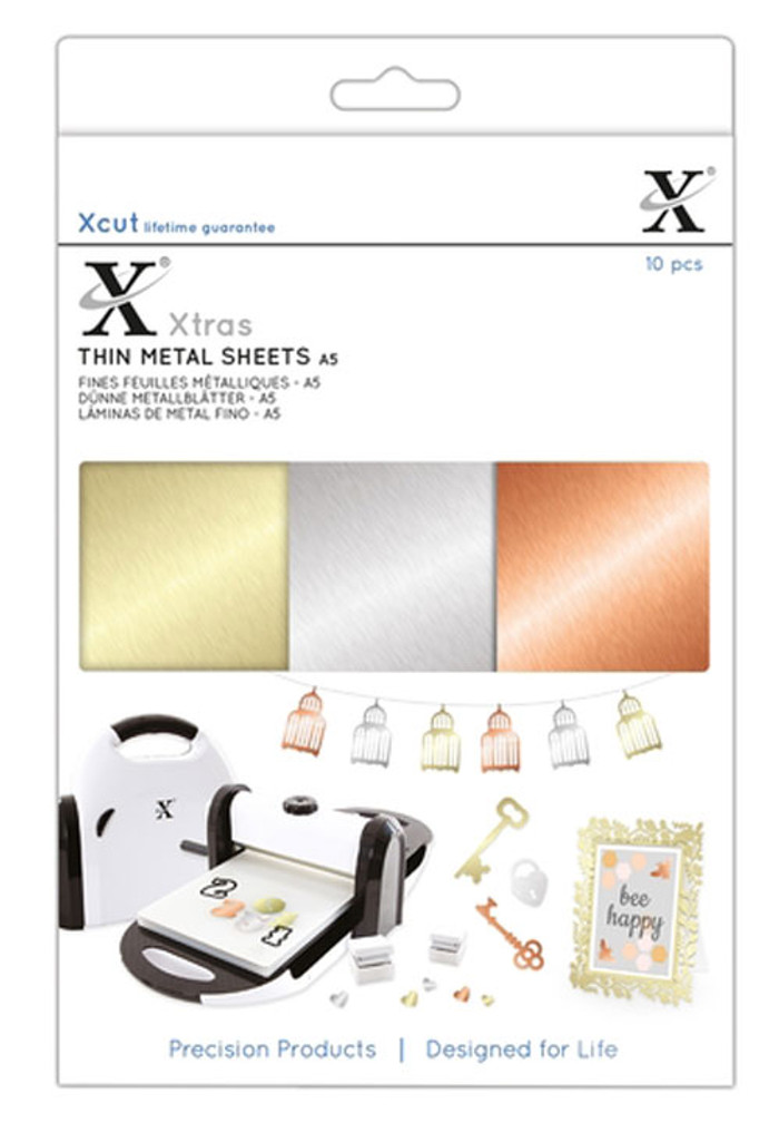 XCut Xtra A5 Thin Metal Sheets - 10 Sheets