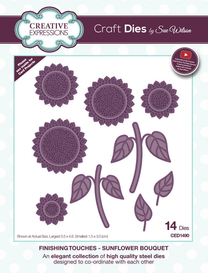 Sue Wilson Finishing Collection Dies - Sunflower Bouquet  CED1490