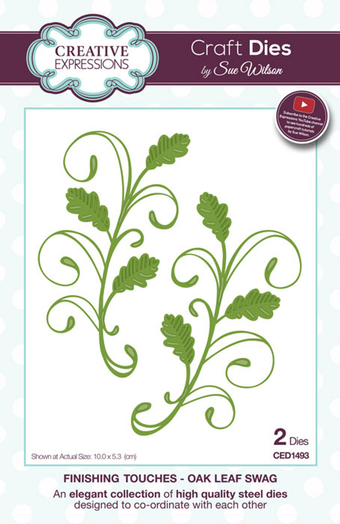 Sue Wilson Finishing Collection Dies - Oak Leaf Swag  CED1493