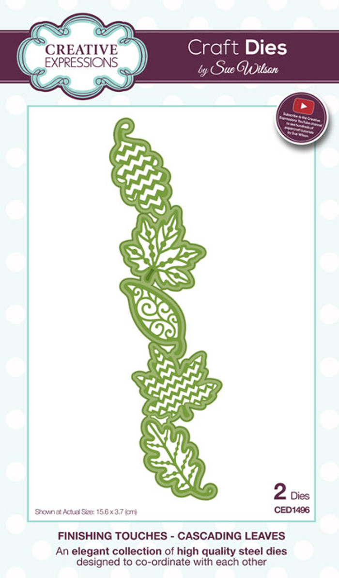 Sue Wilson Finishing Collection Dies - Cascading Leaves CED1496