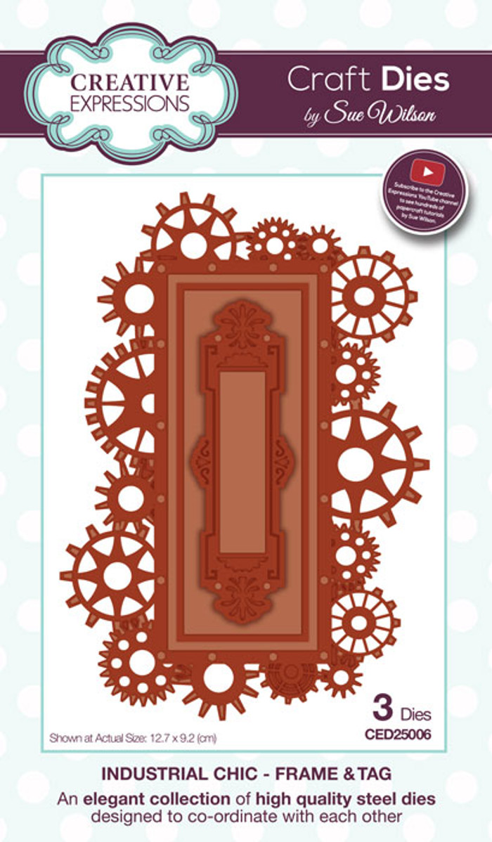 Sue Wilson Industrial Chic Collection Die - Frame & Tag CED25006