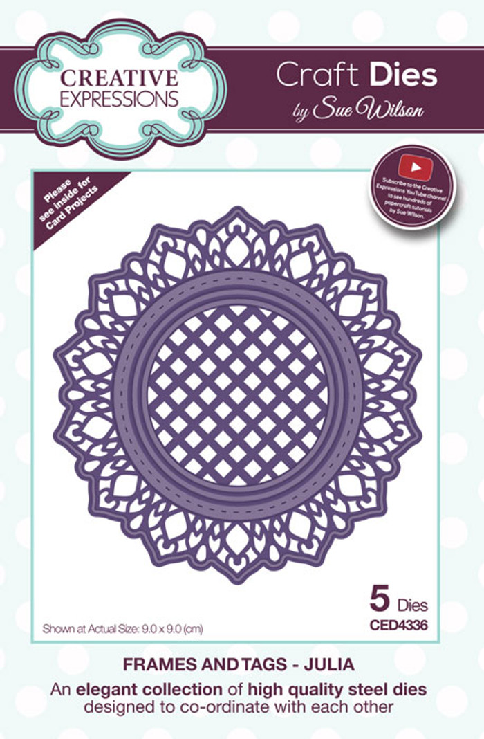 Sue Wilson  Frames & Tags Collection Die - Julia CED4336