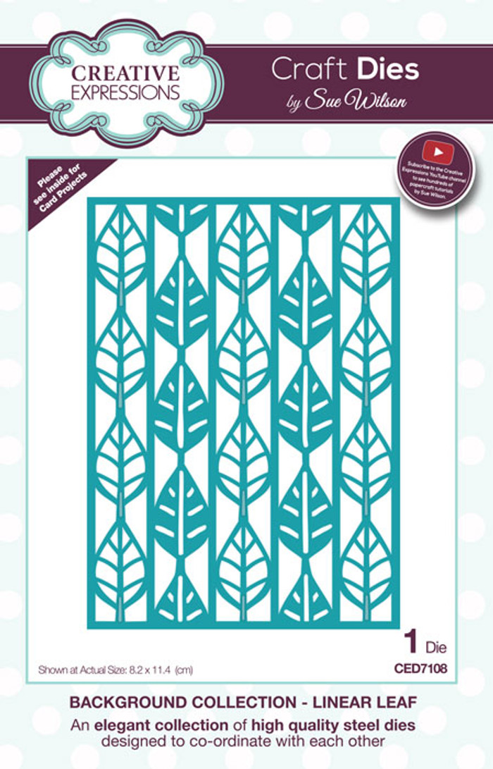 Sue Wilson Background Collection Die - Linear Leaf  CED7108