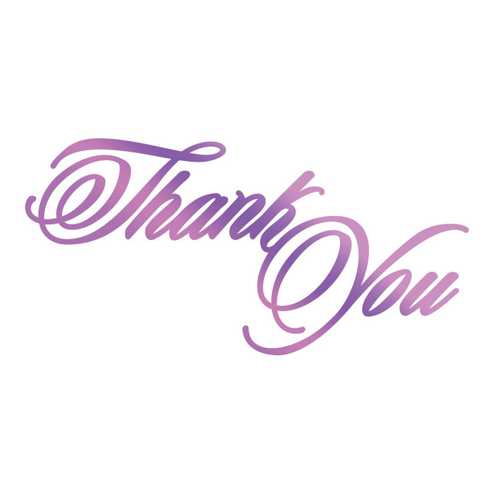Couture Creations Hotfoil Stamp Everyday Sentiments - Thank you CO725822