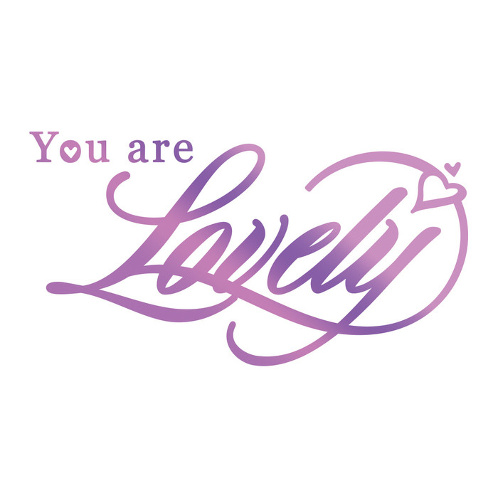 Couture Creations Hotfoil Stamp Everyday Sentiments  - You Are Lovely CO725823