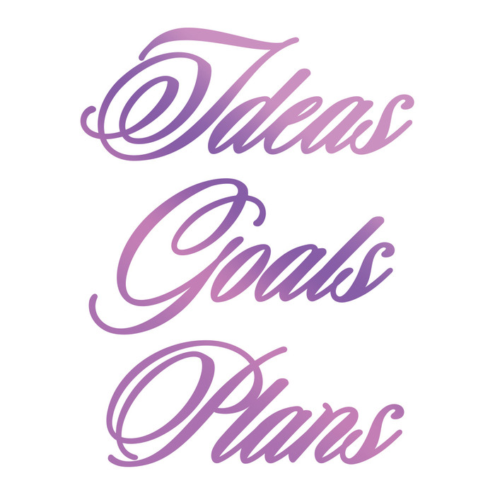 Couture Creations Hotfoil Stamp Everyday Sentiments  - Ideas, Goals, Plans CO725836