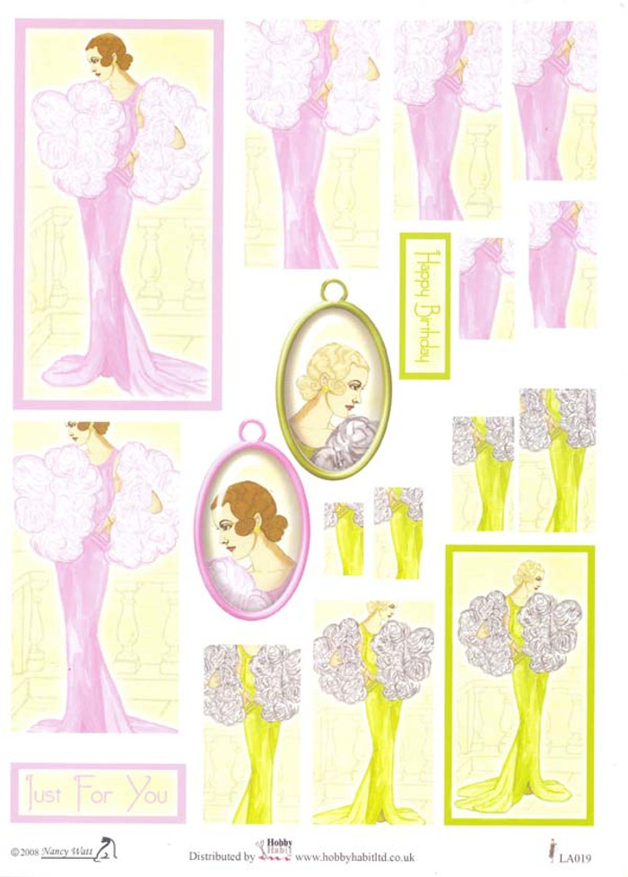 Hobby Habit Twister & Stacker 3D Sheet - Purple Day Dress LA019
